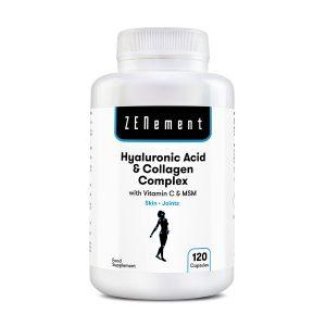 Ácido Hialurónico y Colágeno Complex, con MSM y Vitamina C, 60 cápsulas
