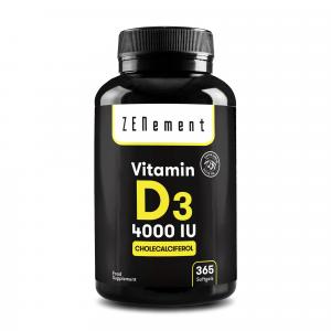 Vitamina D3 4000 UI 1 Año de suministro - 365 Cápsulas