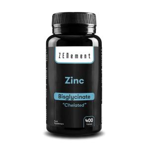 Zinc, 25 mg (Bisglicinato), 400 Comprimidos, Quelado, de Zenement