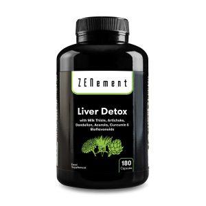 Detox Hígado, con Cardo Mariano, Alcachofa, Diente de León, Acerola, Cúrcuma y Bioflavonoides, 180 Cápsulas