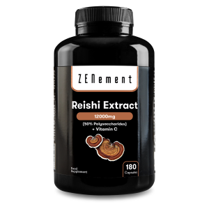 Reishi Extract 12000mg, con Vitamina C, 180 Cápsulas | 50% polisacáridos