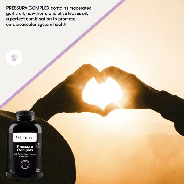 Pressura Complex con Aceite de Ajo, Espino Blanco y Hojas de Olivo - 300 Perlas