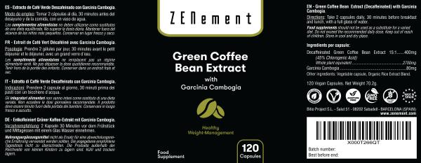 Extrait de Café Vert - 90 Gélules
