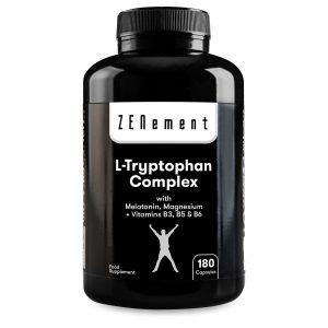 L-Tryptophane Complex avec Mélatonine, Magnésium + Vitamines B3, B5, B6 - 180 Gélules