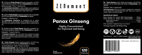 Panax Ginseng - FR - 120 Gélules