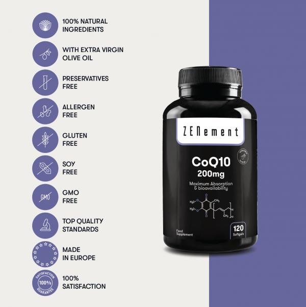 Coenzyme Q10 200 mg - 120 Capsules