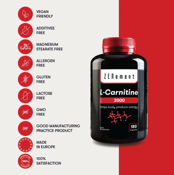 L-Carnitina - 180 Gélules