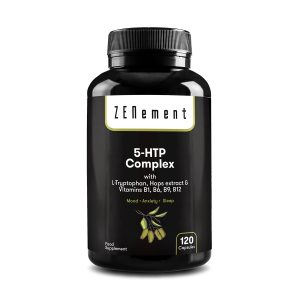 Complesso 5-HTP con L-triptofano, estratto di Luppolo e Vitamine B1, B6, B9, B12, 120 Capsule