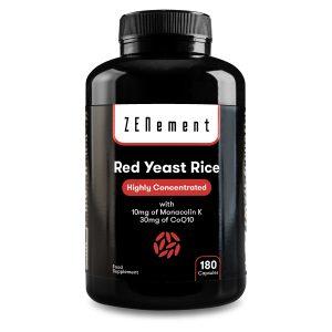 Lievito di Riso Rosso (Riso Rosso Fermentato) con 10 mg di Monacolina K e 30mg di Coenzima Q10, 180 Capsule Sofgel de Zenement