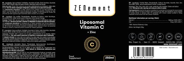 Vitamina C Liposomiale con Zinco, 250 ml