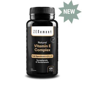 Complesso Naturale di Vitamina E, Tocoferoli & Tocotrienoli, Spettro completo, 120 Capsule Sofgel