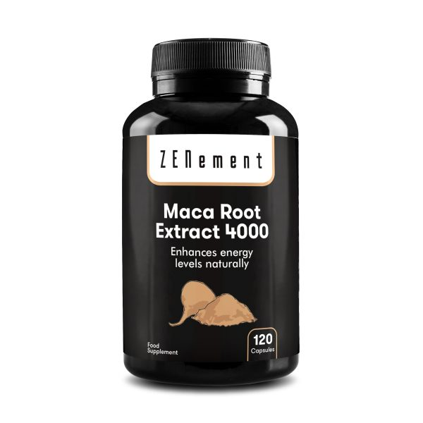 Peruvian Maca Root Extract, Highly Concentrated 4000mg, 120 Capsules