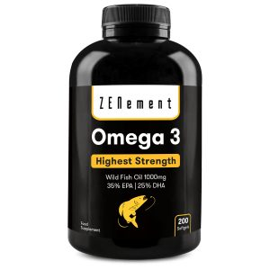Omega-3 Highest Strength Wild Fish Oil 1000mg 350mg EPA | 250mg DHA - 200 Softgels