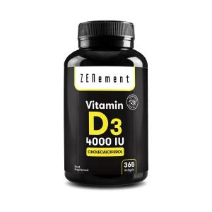 Vitamin D3 4000 IU Full Year Supply - 365 Softgels