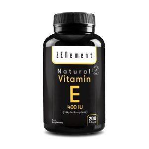 Natural Vitamin E - 400 IU (D-Alpha-Tocopherol) 200 Softgels