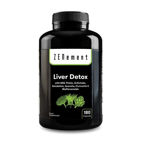 Liver Detox, with Milk Thistle, Artichoke, Dandelion, Acerola, Curcumin and Bioflavonoids, 180 Capsules