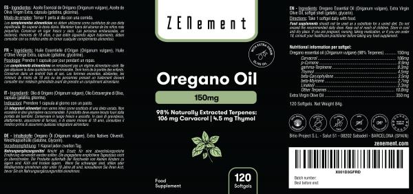 Oregano Oil 150mg - 120 Softgels