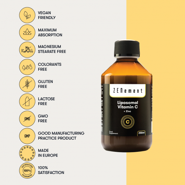 Liposomal Vitamin C with Zinc, 250 ml