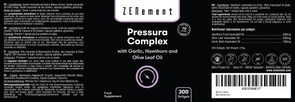Pressura Complex with Garlic, Hawthorn and Olive Leaf Oil - 300 Softgels